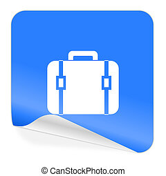 bag blue sticker icon