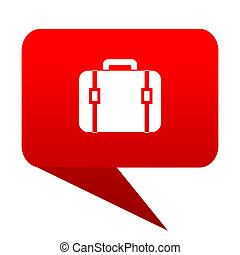 bag bubble red icon