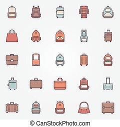 Bag colorful icons
