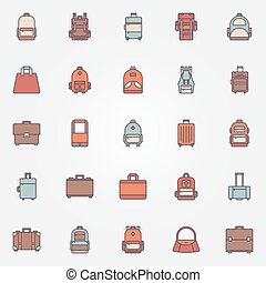 Bag colorful icons