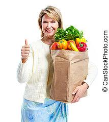 bag., drogheria, shopping donna, anziano