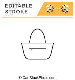 Bag editable stroke line icon
