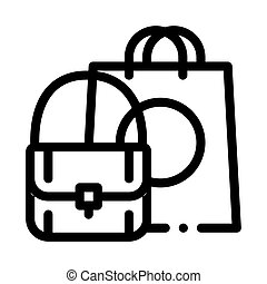 Bag Fashion Style Icon Vector Outline Illustration
