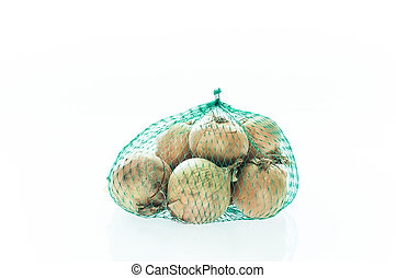 Bag filled with onions