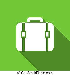 bag flat icon luggage sign