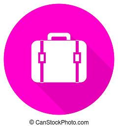 bag flat pink icon