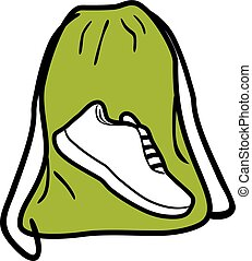 Bag for gym shoes. Icon for design
