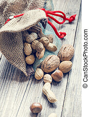 bag full of nuts and almonds