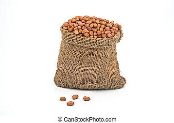 Bag full of peanuts