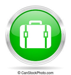 bag green modern design web glossy icon