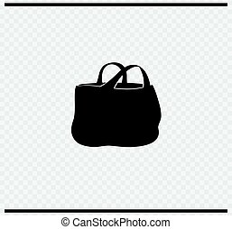 bag icon black color on transparent