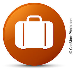 Bag icon brown round button