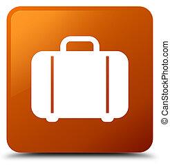 Bag icon brown square button