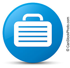 Bag icon cyan blue round button