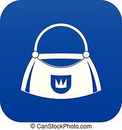 Bag icon digital blue