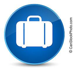 Bag icon elegant blue round button