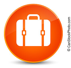 Bag icon elegant orange round button