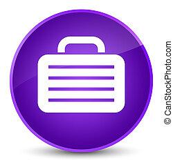 Bag icon elegant purple round button
