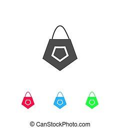 Bag icon flat.