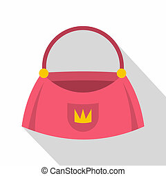 Bag icon, flat style
