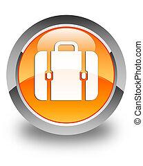 Bag icon glossy orange round button 3