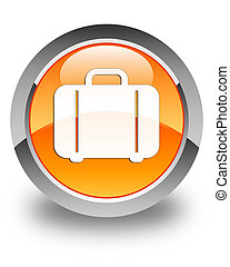 Bag icon glossy orange round button
