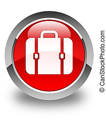Bag icon glossy red round button