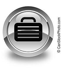 Bag icon glossy white round button