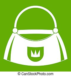 Bag icon green