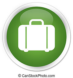 Bag icon green button