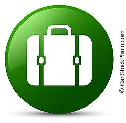 Bag icon green round button