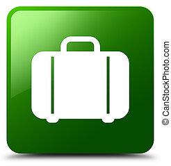 Bag icon green square button