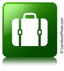 Bag icon green square button