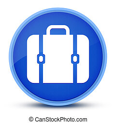 Bag icon isolated on special blue round button abstract