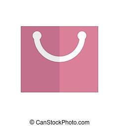 Bag. Icon on isolated background