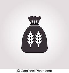 bag icon on white background