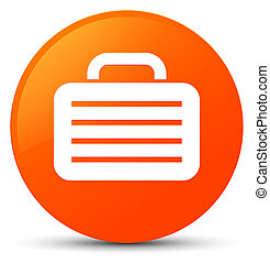 Bag icon orange round button