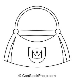 Bag icon, outline style