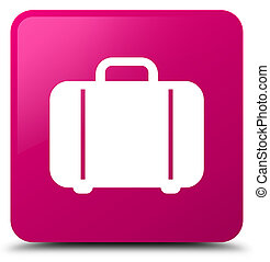Bag icon pink square button