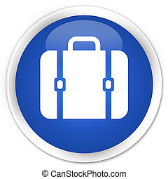 Bag icon premium blue round button