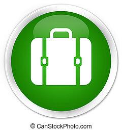 Bag icon premium green round button