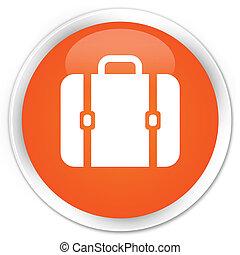 Bag icon premium orange round button