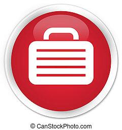 Bag icon premium red round button