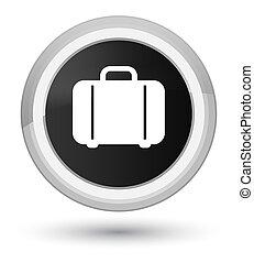Bag icon prime black round button