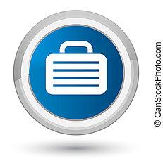 Bag icon prime blue round button
