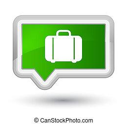 Bag icon prime green banner button