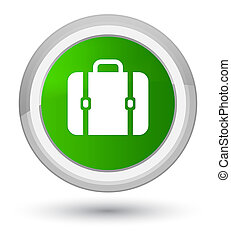 Bag icon prime green round button