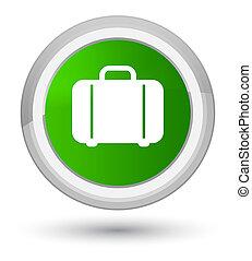 Bag icon prime green round button