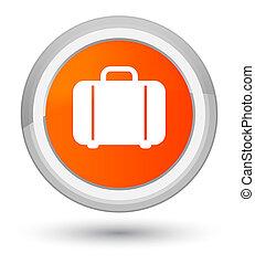 Bag icon prime orange round button