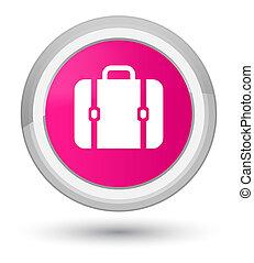 Bag icon prime pink round button